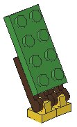 Tile 1x1 with Clip, Plate 1x2 with Handle on End